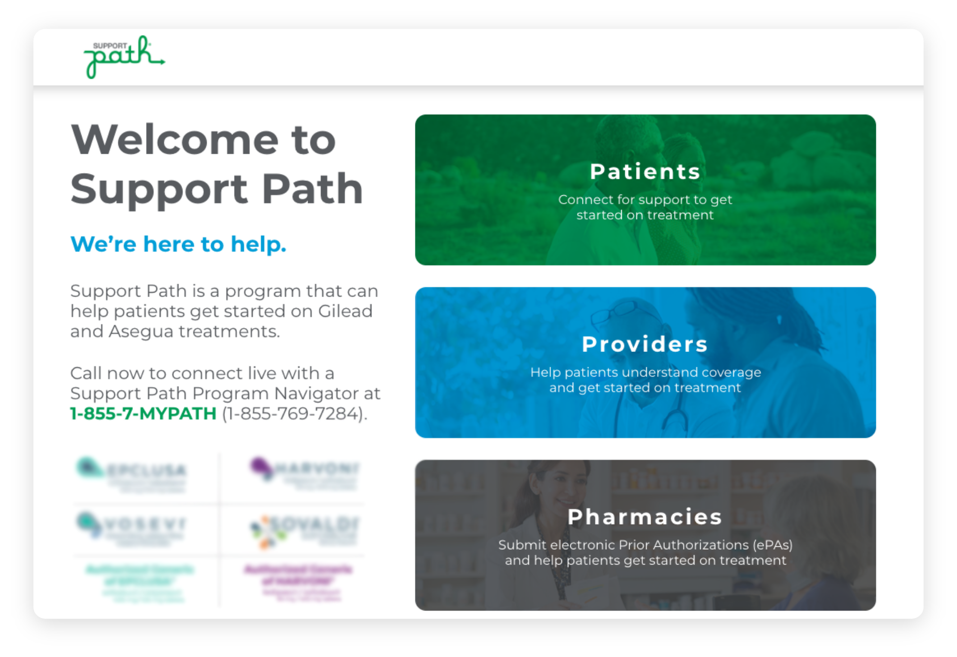 Support path is a program that can help patients get started on Gilead treatments