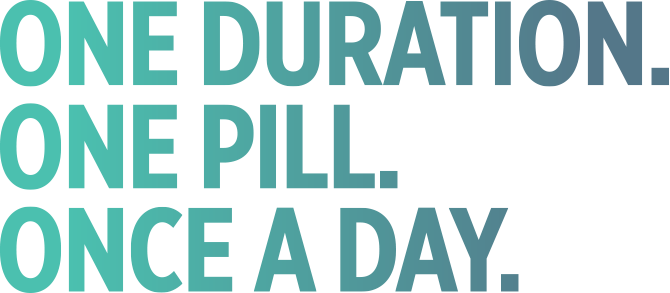 One duration one pill once a day